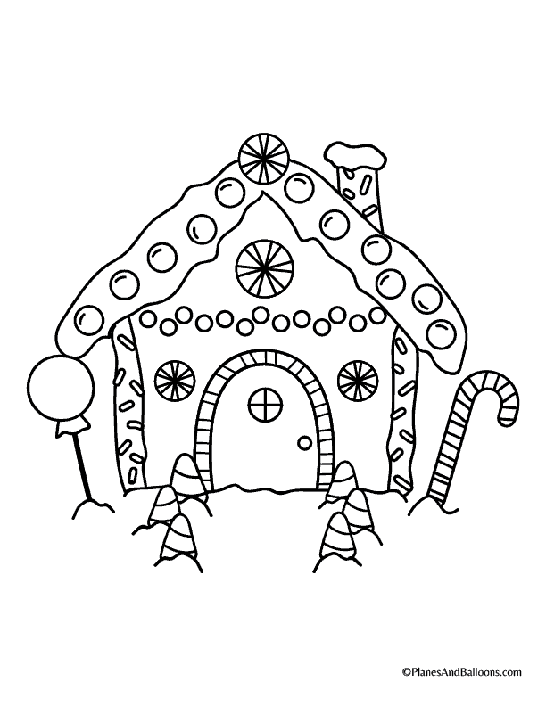 Free printable gingerbread house coloring pages for the holiday season