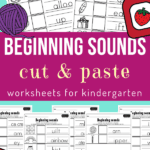 beginning sounds worksheets for kindergarten