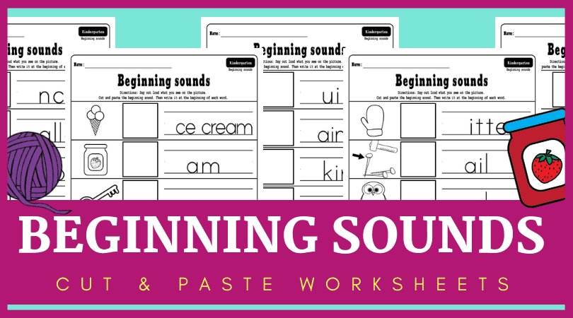 An image of the beginning sounds worksheets