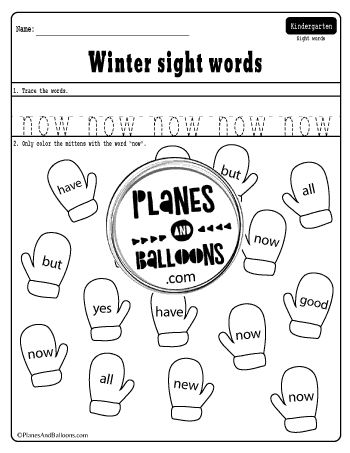 mitten sight words