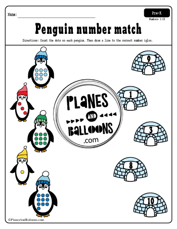 penguin winter worksheets