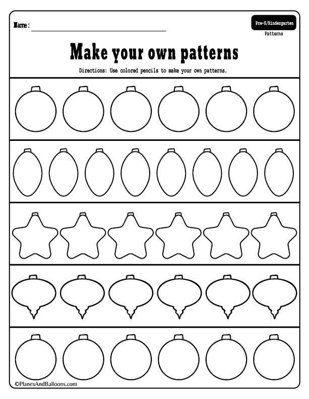preschool christmas patterns activities for fun holiday. Black Bedroom Furniture Sets. Home Design Ideas