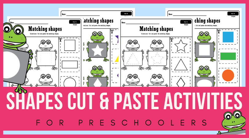 Fun free printable shapes worksheets for preschool - cut and paste worksheets for preschool.