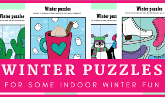 Winter puzzles for some indoor winter fun