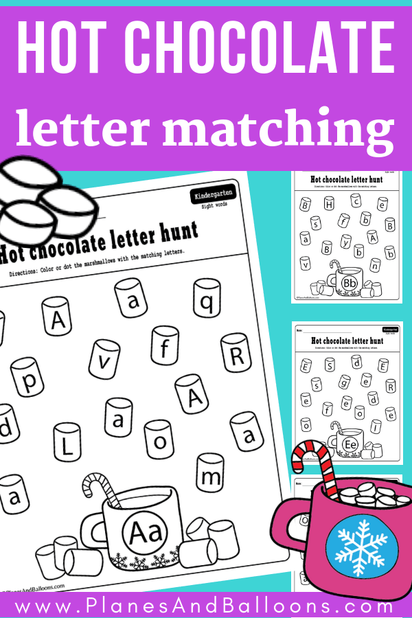 Free printable winter alphabet letters for kids. Fun winter alphabet worksheets great for kindergarten literacy centers. FREE alphabet worksheets! #kindergarten