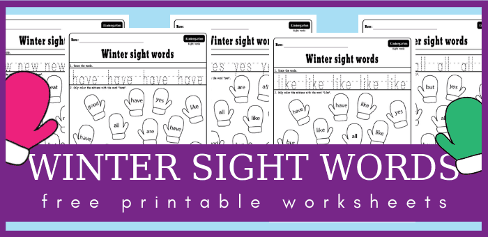 photograph about Printable Worksheets for Kindergarten Sight Words named Wintertime sight text worksheets for your kindergarten lesson applications