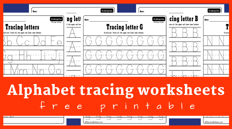 Alphabet tracing worksheets A-Z free printable bundle