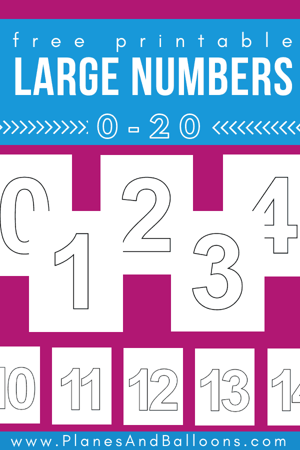 photo regarding Printable Large Numbers identified as Major printable quantities 1-20 for basic quantity actions