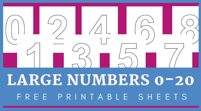 photo relating to Printable Numbers identified as Enormous printable figures 1-20 for basic amount routines