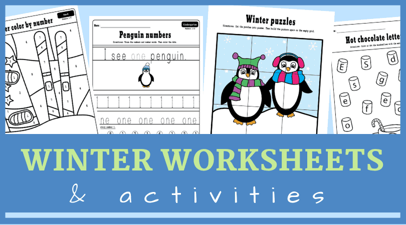 preschool winter activitiesFree printable winter activities for preschool and kindergarten. From learning numbers to letters to fine motor skills. These are fun winter worksheets! #prek
