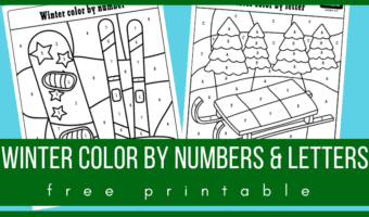winter color by number preschool