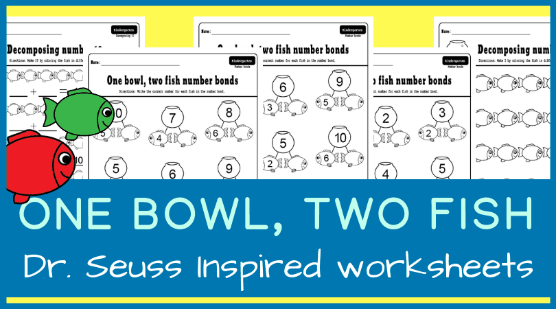 graphic regarding One Fish Two Fish Printable identified as 1 bowl, 2 fish selection bonds. Dr. Seuss impressed