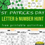 St. Patrick's day letter and number activities