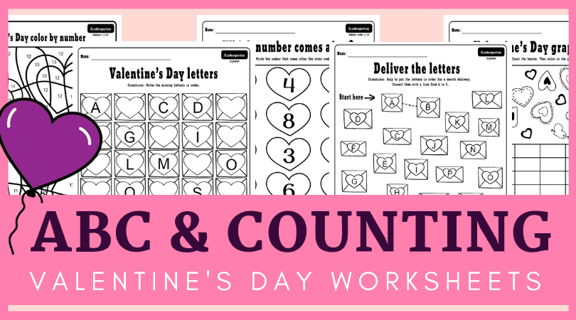 photo relating to Free Printable Valentine Worksheets identified as Free of charge printable Valentines working day kindergarten worksheets package deal