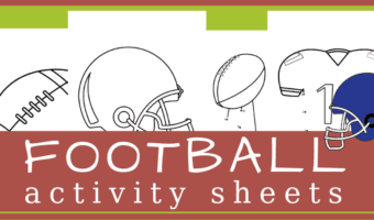 Football connect the dots activity sheets