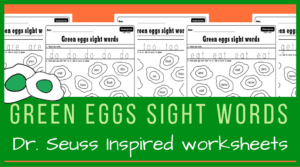 Green eggs sight words hunt