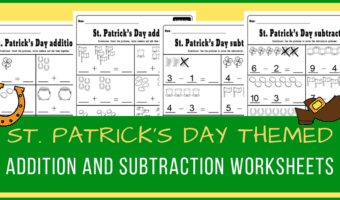 March addition and subtraction worksheets for kindergarten