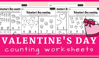 Valentine's Day counting to 20 worksheets