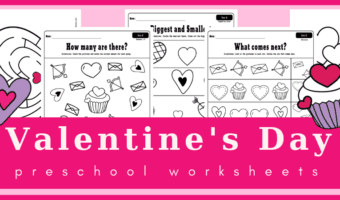 valentines day worksheets preschool