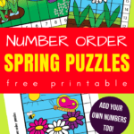spring number puzzles for preschool