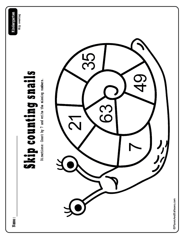 Spring kindergarten math worksheets free printables - fun skip counting activity for spring lesson plans and math centers. #kindergarten #spring #freeworksheets