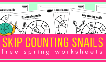 Skip counting snails worksheets