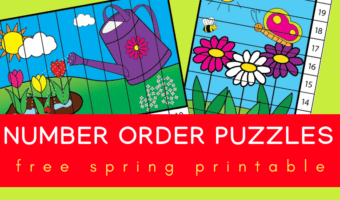 Spring number order puzzles