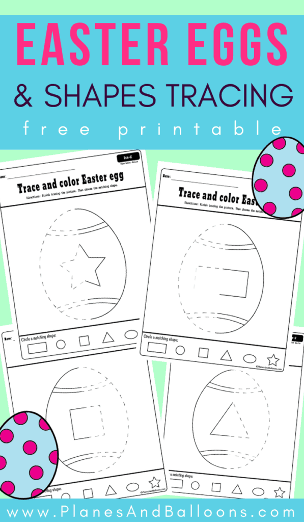 Easter egg tracing Pinterest image