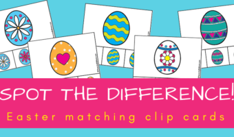 Easter eggs matching clip cards