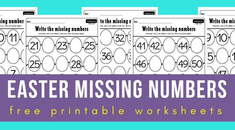 image regarding Printable Numbers 1-50 identified as Lost quantities 1-50 worksheets for your Easter family vacation classes