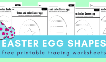 Easter eggs and shapes tracing worksheets