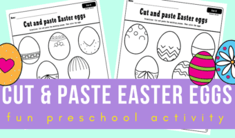 Cut and paste Easter eggs