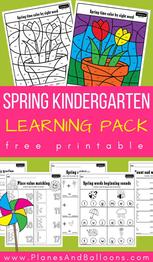 Free printable spring kindergarten worksheets