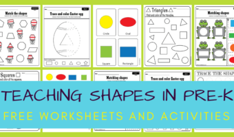 set of worksheets for teaching shapes