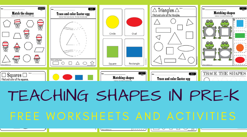 Worksheets And Activities For Teaching Shapes To Preschoolers