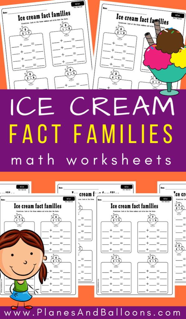 fact families kindergarten worksheets