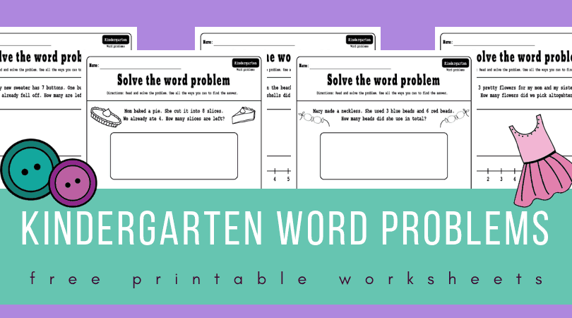 kindergarten math word problems worksheets