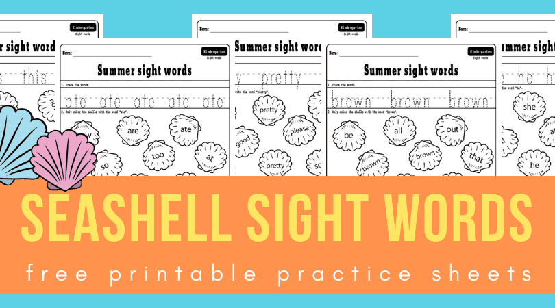 sight words sea shells