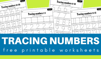 Numbers 1-20 tracing worksheets