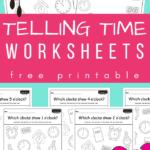 Telling time worksheets pdf