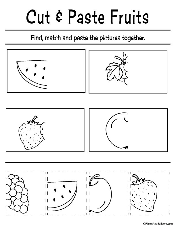 graphic about Preschool Cut and Paste Printable Worksheets titled Free of charge printable slash and paste worksheets for preschool