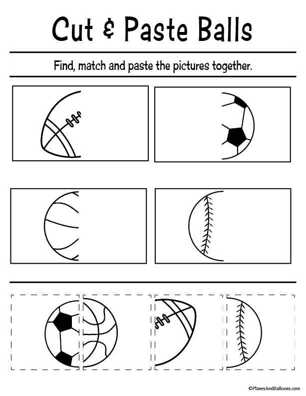 picture regarding Preschool Cut and Paste Printable Worksheets called Totally free printable minimize and paste worksheets for preschool