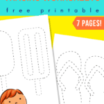 summer tracing worksheets - popsicles flip flops and more