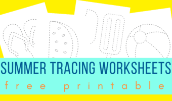 Summer tracing worksheets for preschoolers