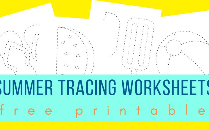 Summer tracing worksheets for preschoolers