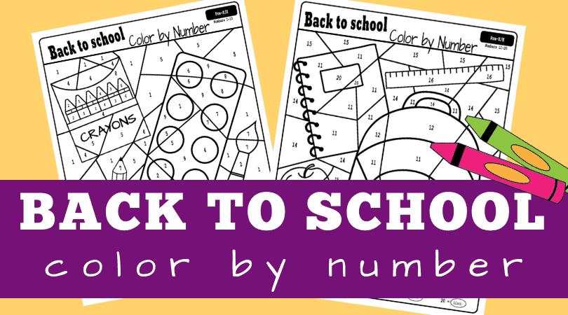 back to school color by number worksheets planes balloons let 39 s make learning fun. Black Bedroom Furniture Sets. Home Design Ideas
