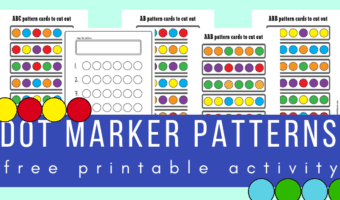 Do-A-Dot marker patterns activity