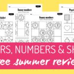summer worksheets pack