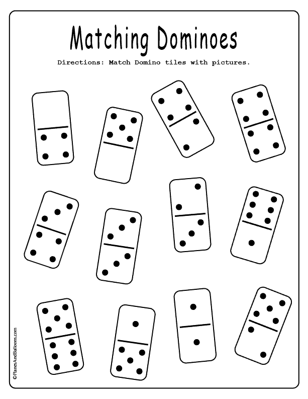Dominoes Matching Game For Visual Discrimination Free