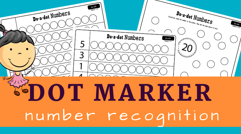 Fun 1-20 number recognition worksheets for kindergarten math. Free printable for small groups or morning work.
